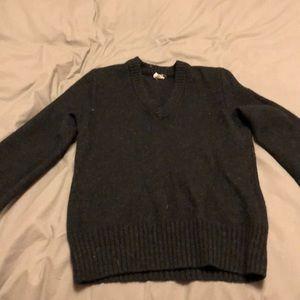 J. Crew 100% Lambs Wool Black Sweater size Medium